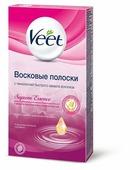 Veet Восковые полоски Suprem'Essence с ароматом бархатной розы и эфирными маслами для линии бикини и области подмышек