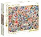 Пазл Clementoni High Quality Collection Почтовые марки (39387), 1000 дет.