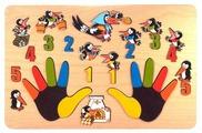 Рамка-вкладыш Нескучные игры Сорока-белобока (7916), 33 дет.