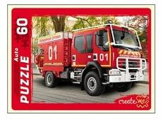 Пазл Рыжий кот Auto Пожарная машина (П60-0974), 60 дет.