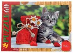 Пазл Hatber Little Friends Котенок с клубничкой (60ПЗ5_11865), 60 дет.
