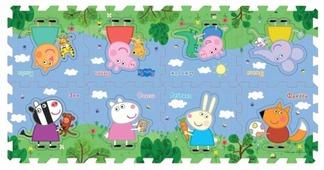 Коврик-пазл РОСМЭН Peppa Pig Пеппа и друзья (30130)