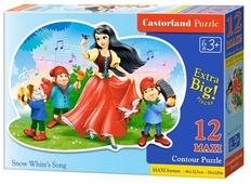 Пазл Castorland Snow White's Song (B-120192), 12 дет.