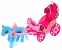Забияка карета с пони для куколки малышки (SL-5138A)
