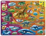 Рамка-вкладыш Larsen Динозавры (HL1), 85 дет.