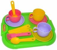 """Набор посуды Полесье """"Минутка"""" с подносом на 3 персоны 9523"""