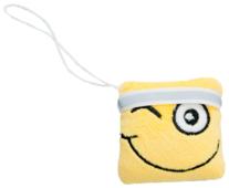 Мягкая игрушка Fancy Смайлик квадрат с белой лентой 7 см