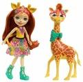 Кукла Enchantimals Джиллиан Жираф с любимой зверюшкой, 15 см, FKY74
