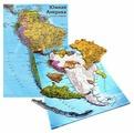 Рамка-вкладыш Геоцентр Карта Южной Америки (4660000230775), 14 дет.