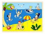 Рамка-вкладыш Маленький гений На пляже (5125), 9 дет.