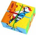 Кубики-пазлы Мякиши Собери картинку Птицы