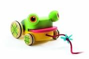 Каталка-игрушка DJECO CroaFroggy (06252) со звуковыми эффектами