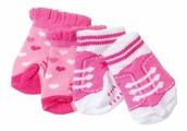 Zapf Creation Носки для куклы Baby Born 823576, 2 пары