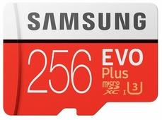 Samsung EVO Plus v2 MicroSDXC 256GB UHS-I U3 + SD Adapter (R100/W90Mb/s) (MB-MC256GA/RU)