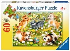 Пазл Ravensburger Котики и собачки (09624), 60 дет.