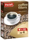 Одноразовые фильтры для капельной кофеварки Paclan Небеленые Размер 4