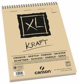 Альбом для набросков Canson XL Kraft 42 х 29.7 см (A3), 90 г/м², 60 л.
