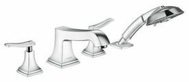 Смеситель для ванны с душем hansgrohe Metropol Classic 31441000 + 13444180 двухрычажный встраиваемый лейка в комплекте хром