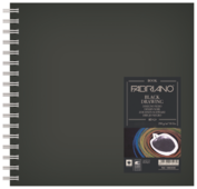 Скетчбук для зарисовок Fabriano Black Drawing Book 15 х 15 см, 190 г/м², 40 л.