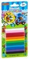Пластилин BONDIBON 12 цветов с 2 формочками (ВВ1807)