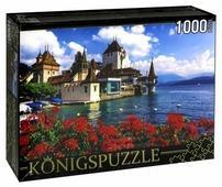Пазл Рыжий кот Konigspuzzle Замок у воды (КБК1000-6490), 1000 дет.