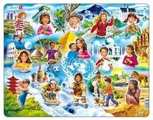 Рамка-вкладыш Larsen Дети мира (NM8), 15 дет.