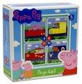 Набор пазлов Origami Peppa Pig Транспорт 4 в 1 (01597)