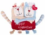 Мягкая игрушка Gulliver Кот и кошка 15 см