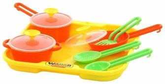 """Набор посуды Полесье """"Поварёнок №1"""" с подносом 40732"""
