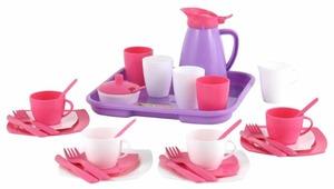 """Набор посуды Полесье """"Алиса"""" с подносом на 4 персоны 40657"""