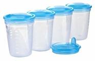 BabyOno Контейнеры для хранения грудного молока 200 мл + ложка