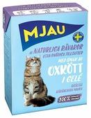 Корм для кошек Mjau Мясные кусочки в желе - Говяжий фарш