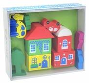 Кубики Томик Цветной городок зеленый 8688-4
