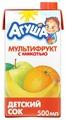 Сок с мякотью Агуша Мультифрукт, c 3 лет