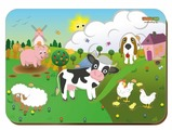 Рамка-вкладыш Woodland Уличные домашние животные (011502), 5 дет.