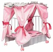 Mary Poppins Кровать для кукол с балдахином Корона (67215)