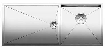Врезная кухонная мойка Blanco Zerox 400/550-T-U InFino 101.5х44см нержавеющая сталь