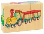 Кубики-пазлы Развивающие Деревянные Игрушки Транспорт Д488а