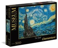 Пазл Clementoni Museum Collection Звездная ночь Ван Гог (30314), 500 дет.
