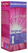 Carefree прокладки ежедневные Plus Large без запаха