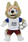 Мягкая игрушка 1 TOY FIFA-2018 Волк Забивака 18 см