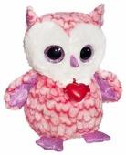Мягкая игрушка Fancy Сова Фенсик розовая с сердечком 20 см