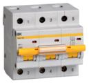 Автоматический выключатель IEK ВА 47-100 3P (D) 10kA