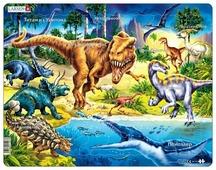 Рамка-вкладыш Larsen Динозавры (NB3), 57 дет.