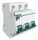 Автоматический выключатель DEKraft ВА-101 3P (B) 4,5кА