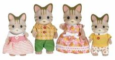 Фигурки Sylvanian Families Семья полосатых кошек 5180