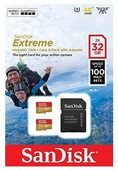 Карта памяти SanDisk Extreme microSDHC Class 10 UHS Class 3 V30 A1 100MB/s