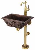 Раковина с пьедесталом Bronze de Luxe 10111