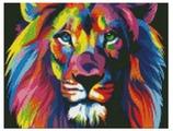 Цветной Набор алмазной вышивки Радужный лев (LE020) 30x40 см