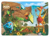 Рамка-вкладыш Играем вместе Поезд Динозавров (RV-2921-DT), 6 дет.